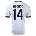 Real Madrid 12/13 ALONSO Home Soccer Jersey