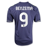 Real Madrid 12/13 BENZEMA Away Soccer Jersey