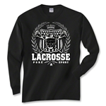 Lacrosse Laurel Long Sleeve T-Shirt (Black)