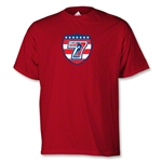 adidas USA Sevens Vegas Logo T-Shirt (Red)