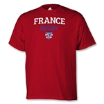adidas USA Sevens France Rugby T-Shirt (Red)