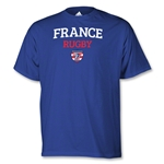 adidas USA Sevens France Rugby T-Shirt (Royal)
