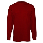 adidas Long Sleeve Logo T-Shirt (Maroon)