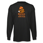 Oregon State Women's Rugby LS Logo T-Shirt (Black)