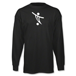 Soccer Shop Logo LS T-Shirt (Black)