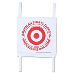 American Sports Targets Soccer Shooting Target (White)