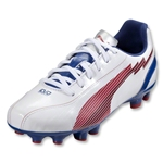 PUMA Women's evoSpeed 5 FG (White/Limoges/Ribbon Red)