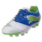 PUMA Women's PowerCat 3.12 FG (White/Festival Fuschia/Blue Atoll)