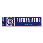 Cruz Azul Bumper Strip 3'' x 12''