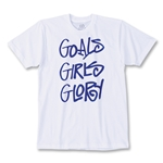 Goals Girls Glory Soccer T-Shirt (White)
