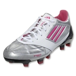 adidas F50 Women's adizero TRX FG Leather (Metallic Silver/Bright Pink/Black)