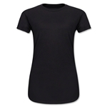 Ladies 4.3 Oz Cotton T-Shirt (Black)