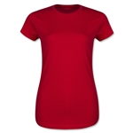 Ladies 4.3 Oz Cotton T-Shirt (Red)