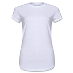 Ladies 4.3 Oz Cotton T-Shirt (White)