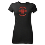 AC Milan Distressed Junior Women's T-Shirt (Black)