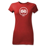 Arsenal Eighteen 86 Junior Women's T-Shirt (Red)