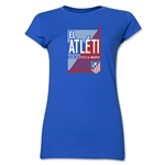 Atletico Madrid El Atleti Junior Women's T-Shirt (Royal)