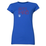 Atletico Madrid ATL MAD Junior Women's T-Shirt (Royal)