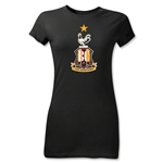 Bradford City Junior Women's Crest T-Shirt (Black)