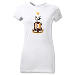 Bradford City Junior Women's Crest T-Shirt (White)