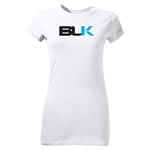 BLK Label Junior Women's SS Rugby T-Shirt (White)
