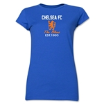 Chelsea Graphic Junior Women's T-Shirt (Royal)