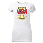 USA CONCACAF Gold Cup 2013 Champions Junior Women's T-Shirt (White)