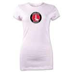 Charlton Athletic Crest Junior Women's T-Shirt (Pink)