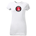 Charlton Athletic Crest Junior Women's T-Shirt (White)