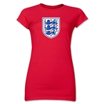 England Core Junior Women's T-Shirt (Red)