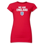 England We Are Junior Women's T-Shirt (White)