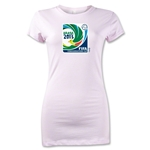 FIFA Confederations Cup 2013 Junior Women's Emblem T-Shirt (Pink)