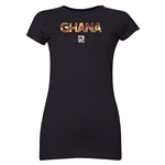 Ghana FIFA U-20 Women's World Cup Canada 2014 Junior Women's Core T-Shirt (Black)