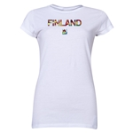 Finland FIFA U-20 Women's World Cup Canada 2014 Junior Women's Core T-Shirt (White)