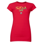 Korea DPR FIFA U-20 Women's World Cup Canada 2014 Junior Women's Core T-Shirt (Red)