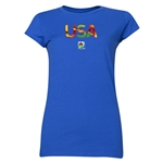 USA FIFA U-20 Women's World Cup Canada 2014 Junior Women's Core T-Shirt (Royal)