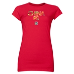 China FIFA U-20 Women's World Cup Canada 2014 Junior Women's Core T-Shirt (Red)