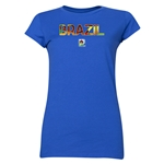Brazil FIFA U-20 Women's World Cup Canada 2014 Junior Women's Core T-Shirt (Royal)