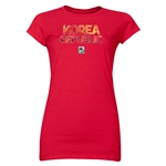 Korea Republic FIFA U-20 Women's World Cup Canada 2014 Junior Women's Core T-Shirt (Red)