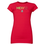 Mexico FIFA U-20 Women's World Cup Canada 2014 Junior Women's Core T-Shirt (Red)