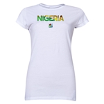 Nigeria FIFA U-20 Women's World Cup Canada 2014 Junior Women's Core T-Shirt (White)