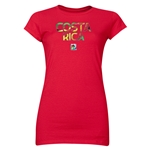 Costa Rica FIFA U-20 Women's World Cup Canada 2014 Junior Women's Core T-Shirt (Red)