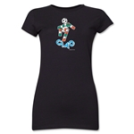 1990 FIFA World Cup Ciao Mascot Junior Women's T-Shirt (Black)