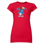 1998 FIFA World Cup Footix Mascot Junior Women's T-Shirt (Red)
