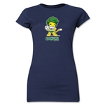 2010 FIFA World Cup Zakumi Mascot Junior Women's T-Shirt (Navy)