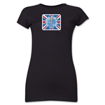1966 FIFA World Cup Emblem Poster Junior Women's T-Shirt (Black)