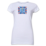 1966 FIFA World Cup Emblem Poster Junior Women's T-Shirt (White)