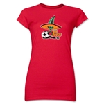 1986 FIFA World Cup Pique Mascot Junior Women's T-Shirt (Red)