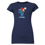 1998 FIFA World Cup Footix Mascot Junior Women's T-Shirt (Navy)