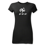France FFF Junior Women's T-Shirt (Black)
